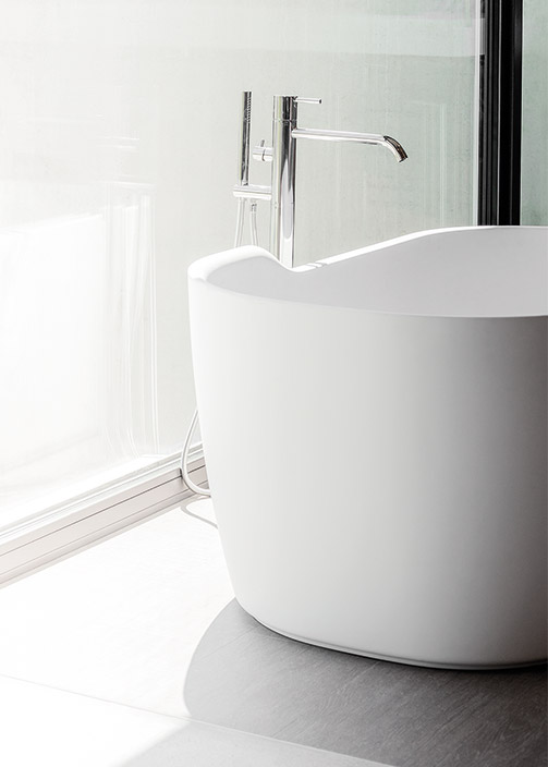 Badräume voller Individualität und Kreativität. Alt-Text: